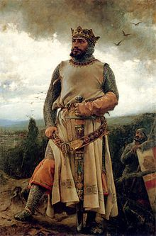 Alfonso I de Aragón por Pradilla (1879).j Alfonso I de Aragón el Batallador (c. 1073 – Poleñino, Huesca, 7 de septiembre de 1134)1 fue rey de Aragón y de Pamplona entre 1104 y 1134.  Hijo de Sancho Ramírez (rey de Aragón y de Pamplona entre 1063 y 1094) y de Felicia de Roucy, ascendió al trono tras la muerte de su hermanastro Pedro I.  Destacó en la lucha contra los musulmanes, llegando a duplicar la extensión del reino de Aragón tras obtener la conquista clave de Zaragoza.