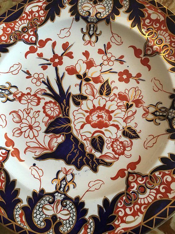 1877/1890 Antique Royal Crown Derby Imari Japan Kings Pattern