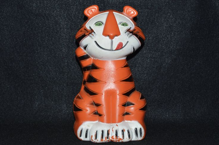 Tony the Tiger Frosted Flakes Cereal Piggy Bank, 1960s Advertising Mail in Promotion, Plastic Tony the Tiger Bank, Tony the Tiger Toy Bank by FabulousVintageStore on Etsy