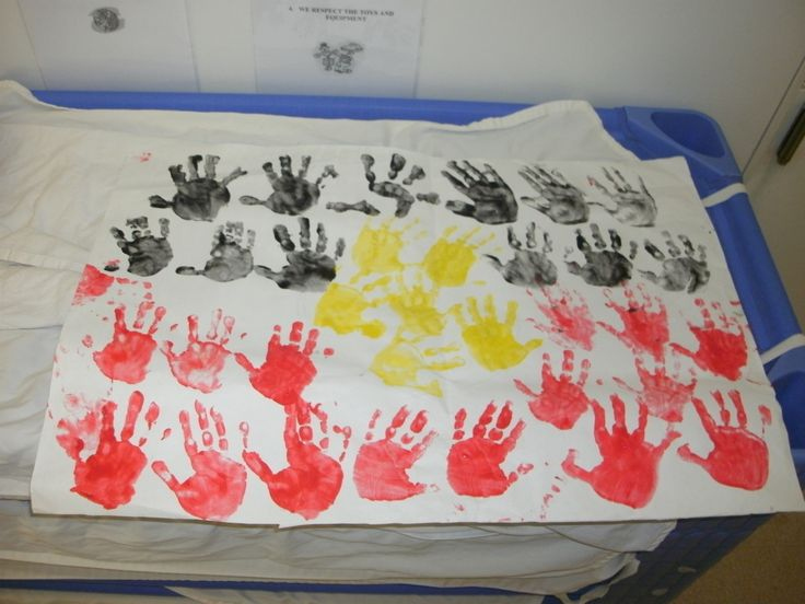 NAIDOC week hand print flag
