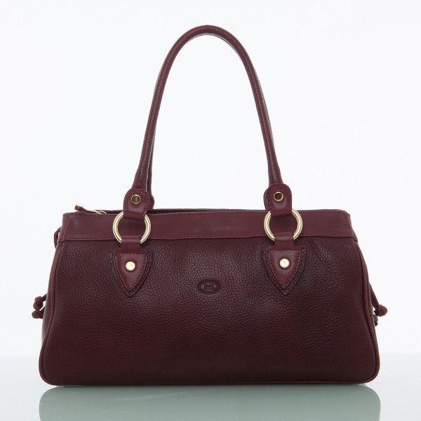 Cathy Prendergast Irish Designer Burgundy Leather Handbags - Banba Tote Bag