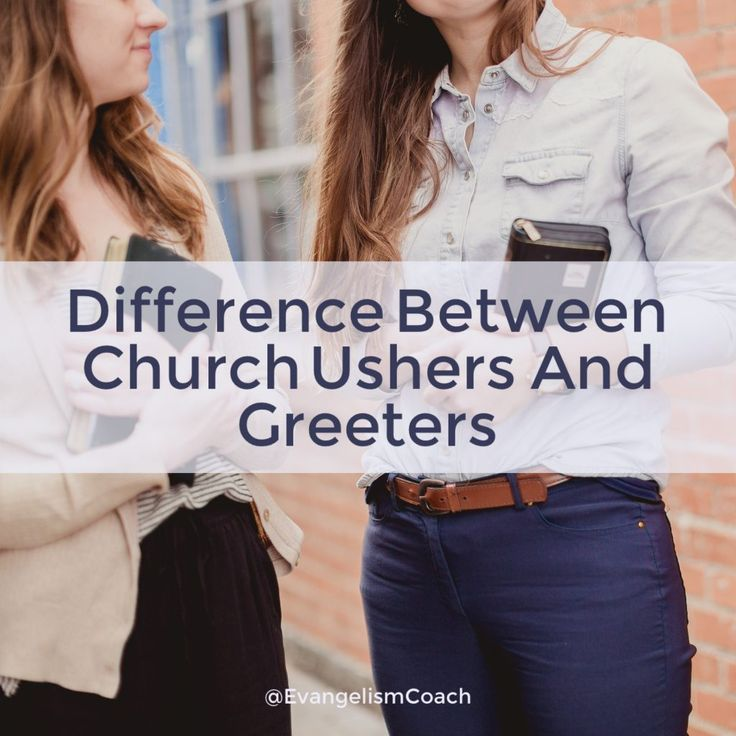 Other than serving location, the difference between a church usher and church greeter is one of scope of roles.