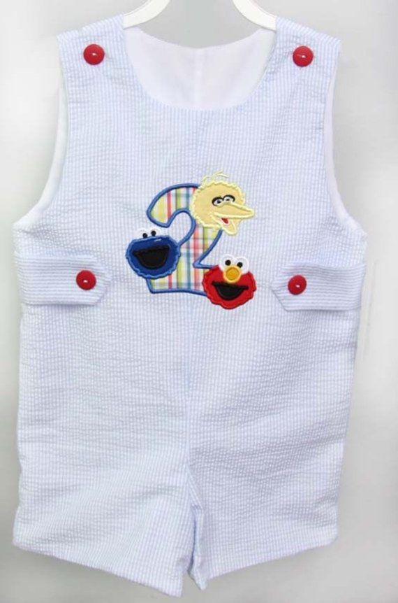 Baby Boy First Birthday Outfit Sesame Street Birthday Outfit