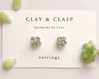Sugar Skull Earrings  beautiful handmade polymer от ClayandClasp