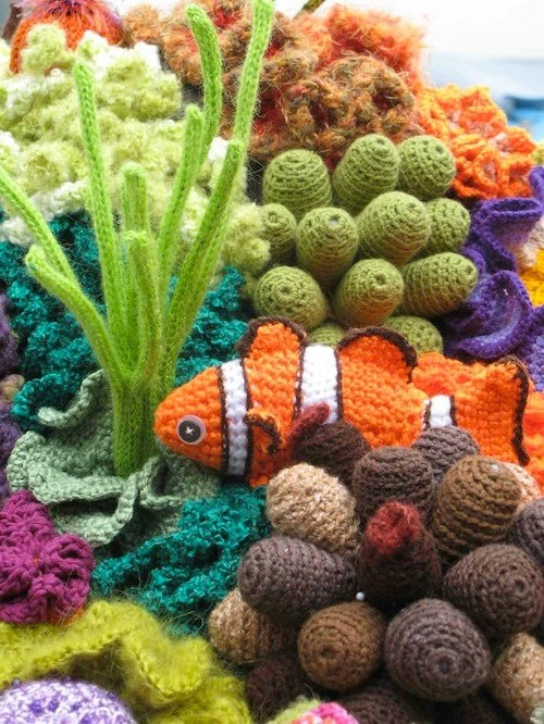From the Crochet Coral Reef Project: Fabulous piece of crochet art from Lynn…