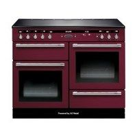 Rangemaster 104490 110cm Electric Range Cooker With Induction Hob Cranberry And Chrome