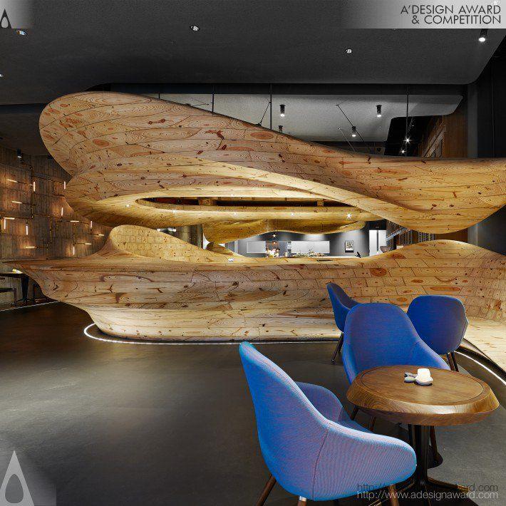 Raw Restaurant, Taipei Restaurant by Weijenberg Pte Ltd. Platinum A' Design Award Winner, Interior Space and Exhibition Design Category 2014 – 2015.