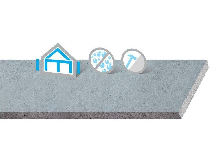 Lastra a base di cemento alleggerito con polistirene espanso AQUAROC by Saint-Gobain Gyproc