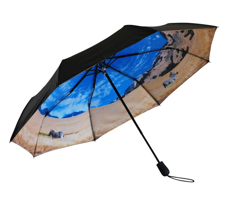 'Into the Wild' Folding Umbrella | Where I'd Rather Be | http://www.whereidratherbe.co.uk/products/into-the-wild-folding-umbrella