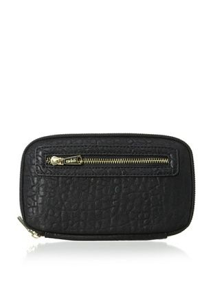 50% OFF co-lab by Christopher Kon Women's Pebbled Zip-Around Wallet, Black