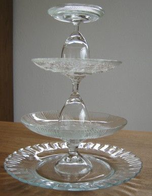 3 glazen 3 borden Lijmpistool