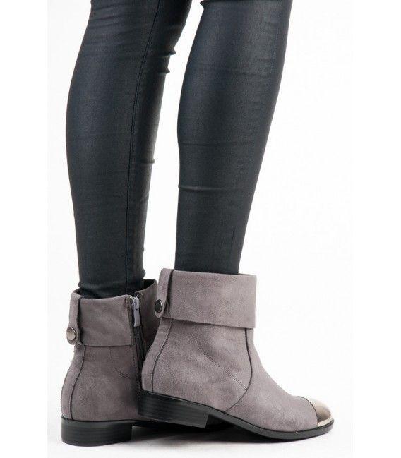 8a44ecd254 Semišové členkové topánky na zips Q2712G