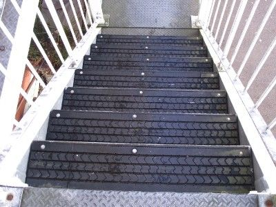 Upcycling Tires - Tire Tread Steps.     Would be kinda cool for a shed outdoors steps or something