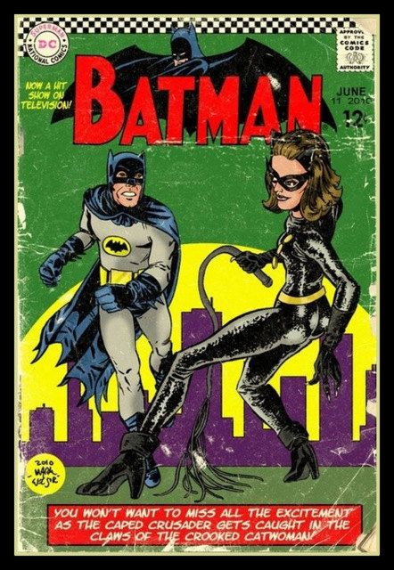 Fridge Magnet Batman and Catwoman image of vintage by Vividiom, $3.50