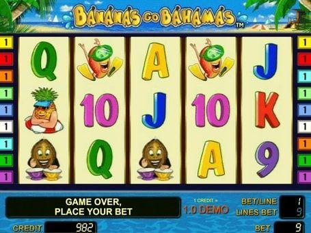 Bananas Go Bahamas в казино онлайн на деньги. В игре Bananas Go Bahamas вас ждут символы в виде веселых фруктов и множество способов получения щедрых призов. Выиграйте реальные деньги в онлайн казино, отправившись в экзотическое путешествие к теплым островам!   Преимущества иг