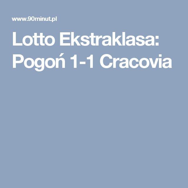 Lotto Ekstraklasa: Pogoń 1-1 Cracovia