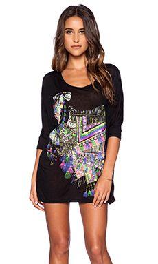 Lauren Moshi Camel Milly Dress in Black