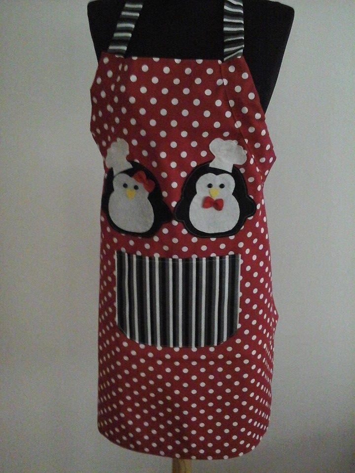 penguenler mutfakta mutfak önlüğü apron