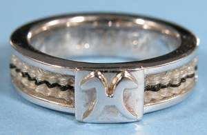 Suzanne Storms - Custom Horsehair Jewelry - 18k Gold Diamond Horseshoe Ring