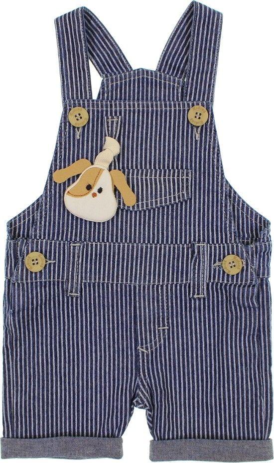 Jardineira Jeans - Bebê Cachorinho 6316 - Unica