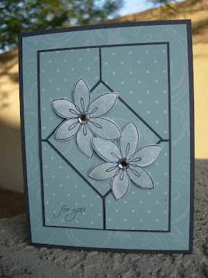 by Nancy Riley, iSTAMP  This is a beautiful card by a Nancy Riley, just not this one...unfortunately! Well done, Nancy Riley from iStamp!