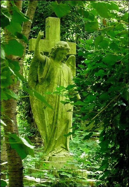 Green angel & cross, 3 of my favorite things