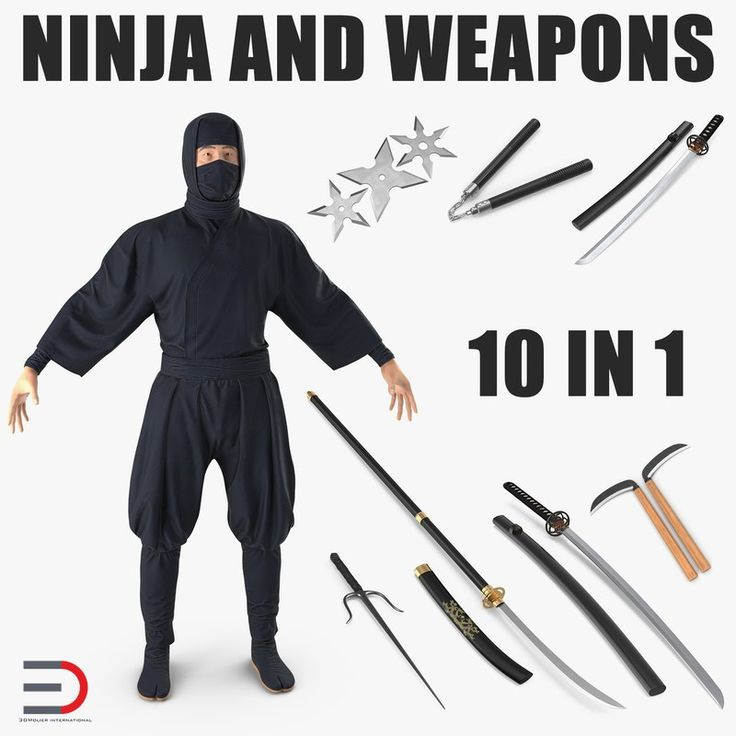 Ninja and Weapons Collection 3D model