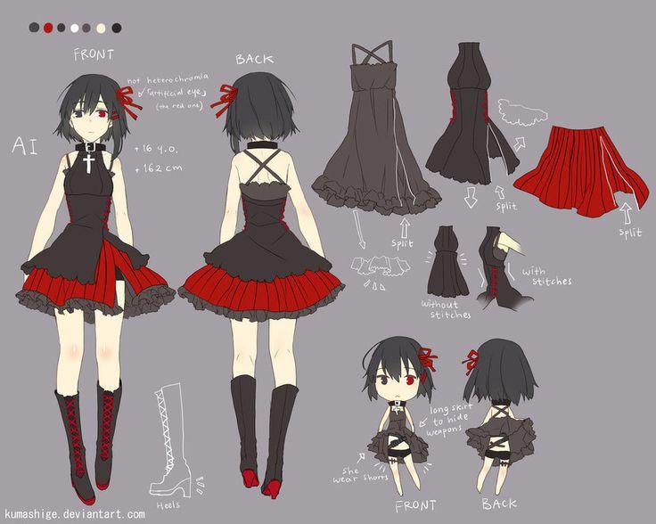 AI character sheet by kumashige on DeviantArt