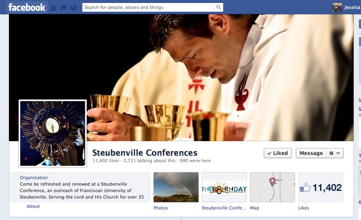 So cool! Father Mike's on the cover for Steubenville Conference's facebook page :) He's awesome! Check out his podcast homilies!!
