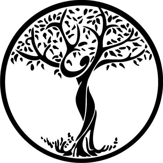 Tree of Life in Female Form Decorative Vinyl by stickemupvinyls