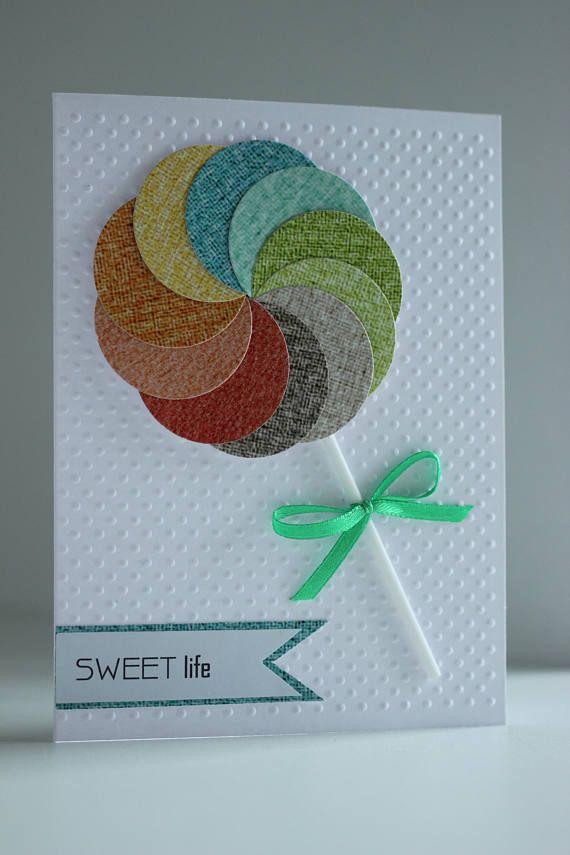 Handmade Sweet Card Sweet card Greetings card Sweet Life