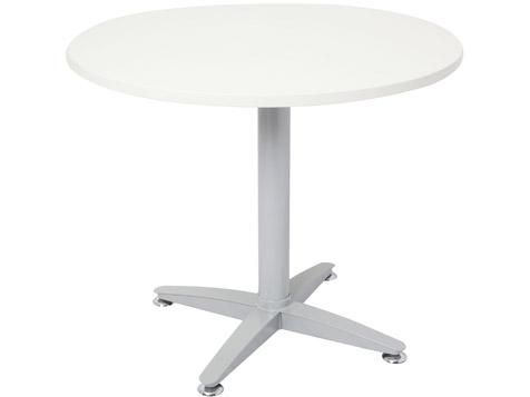 T04 - White Table Top with 4 Star Brushed Silver Base 5 Year Warranty