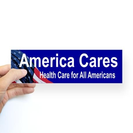 Health care reform bumper bumper sticker