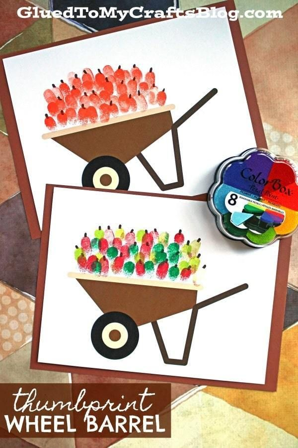 Fall Inspired Thumbprint Wheel Barrel – Kid Craft