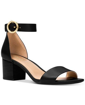 c7818db83 Shop Lena Block Heel Dress Sandals online at Macys.com. MICHAEL Michael  Kors keeps the Lena sandals minimalist-chic with a smooth two-piece  silhouette atop ...