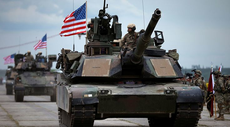 US Tanks Infantry Fighting Vehicles Arrive in Estonia Amid NATO Buildup on Russian Borders  http://wp.me/p7Q8Qp-39h