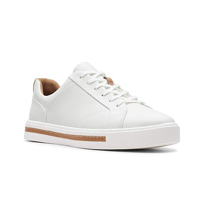27b1e57519207 Amazon.com | CLARKS Womens Un Maui Lace Sneaker, White Leather, Size ...