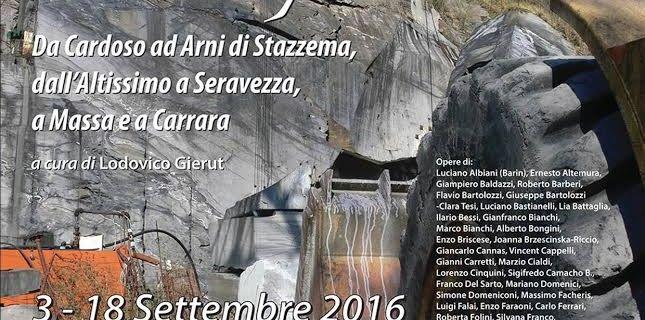 Fino al 18 settembre, duecento opere sulle cave esposto al Cardoso di Stazzema.....