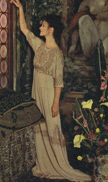 Carla Fracci in a dress belonging to Eleonora Duse