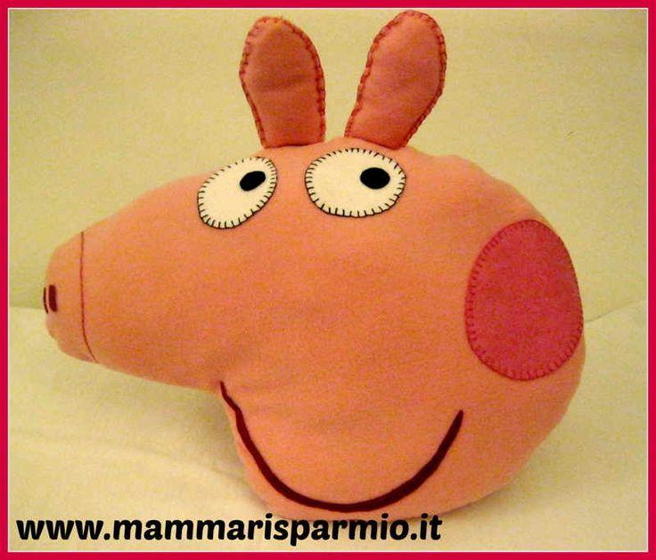 Cuscino Peppa Pig - Tutorial e cartamodello