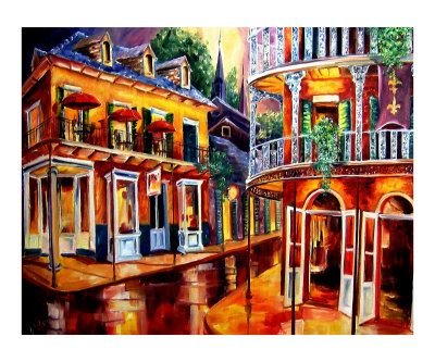 I want to get a bunch of painting like this so whenever I walk down the hallway it's like I'm walking through the streets of New Orleans.