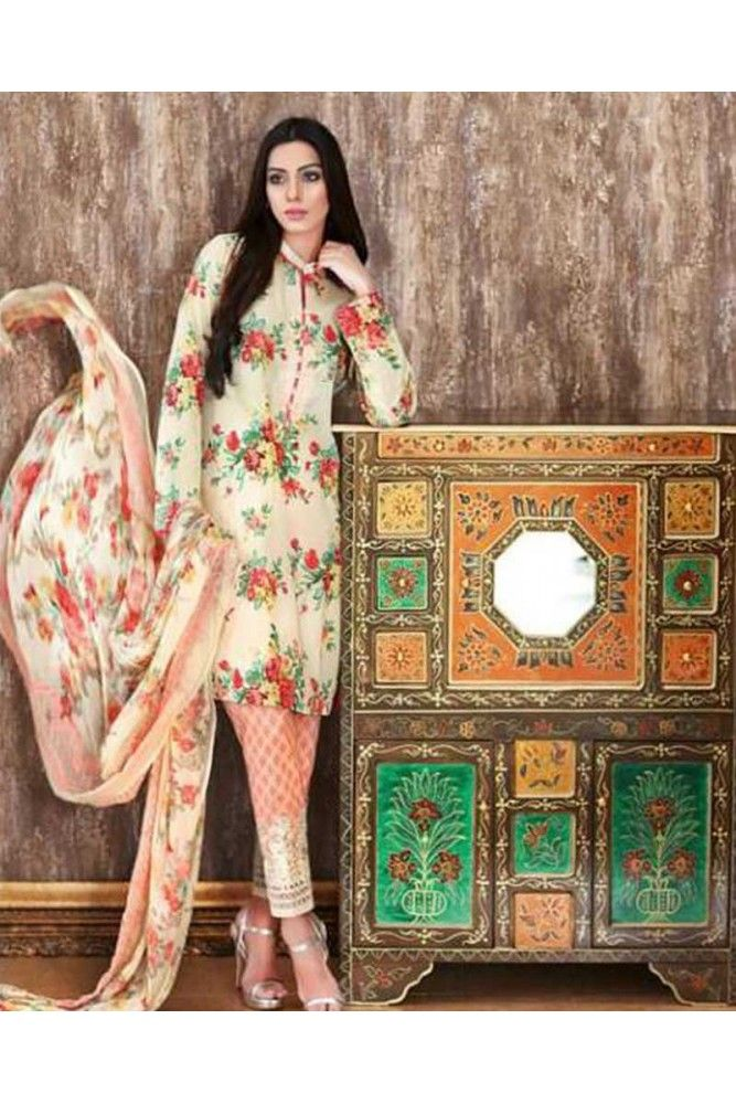 Get floral this season wearing this Cream and Pink floral printed salwar suit.. #salwarsuitsforwomen #womensethnicwear #ethnicwearforwomen #pakistanilawnsuitsforwomen #womenslawnsuits #womensfashion #ethnicwear #indianethnicwear https://trendybharat.com/women/ethnics-wear/women-ethnic-wear-pakistani-lawn-suits/cream-and-orange-cotton-cambric-salwar-suit-set-sf007