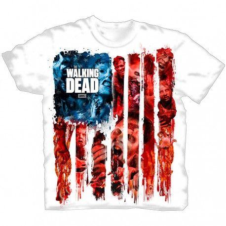 Camiseta oficial #TheWalkingDead barata color blanco. 15,53€. Hazte con este y más productos de merchandising de tu serie favorita.