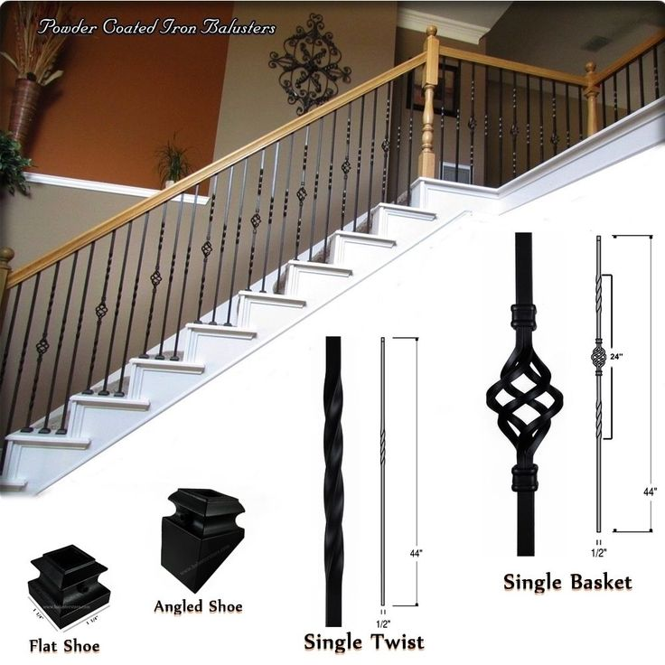 Iron Balusters   Iron Spindles   Iron Stair Parts   Staircase Building  Supplies. #ironbalustersspindlesironstarparts