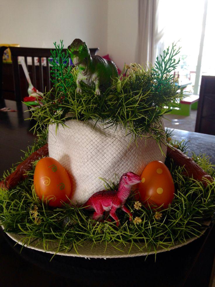 Jurassic / Dinosaur Eggs Easter bonnet