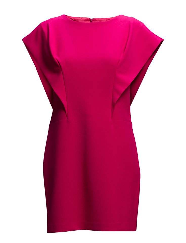 DAY - 2ND File Cap sleeves Modern silhouette Stretch design Elegant sophistication with a modern twist Feminine Dress Pink Neon