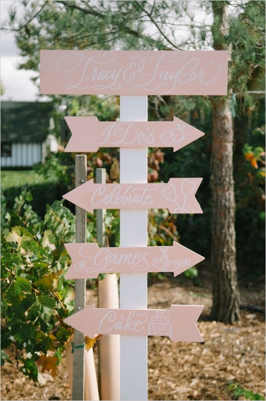 pink and white wedding sign #weddingsign  #gardenwedding #weddingchicks http://www.weddingchicks.com/2014/01/16/dynamite-and-pearls-wedding/