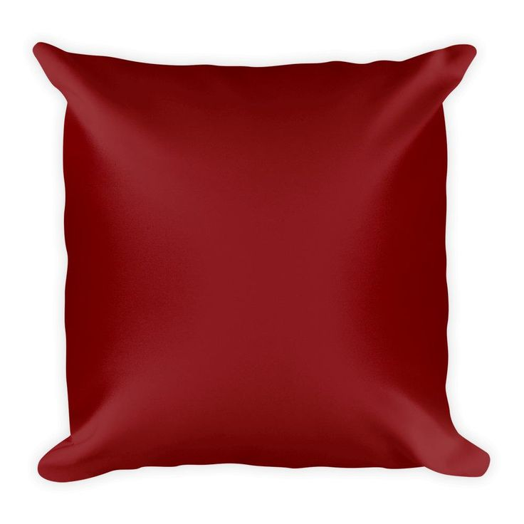 Maroon Square Pillow