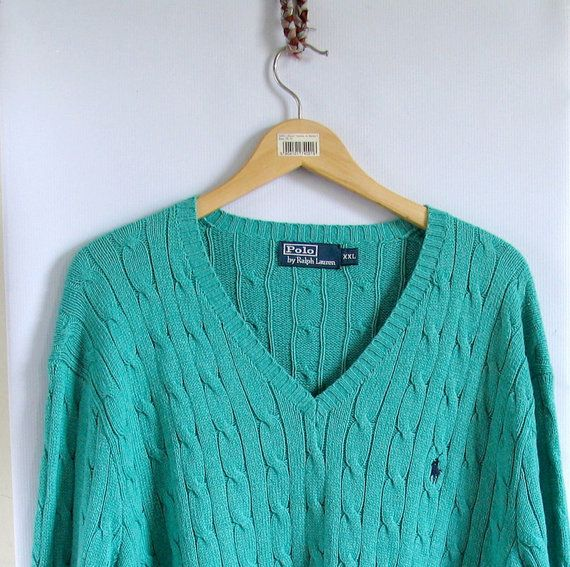 90s Cable Knit Ralph Lauren Polo Sweater Men's Size by artwardrobe, $40.00