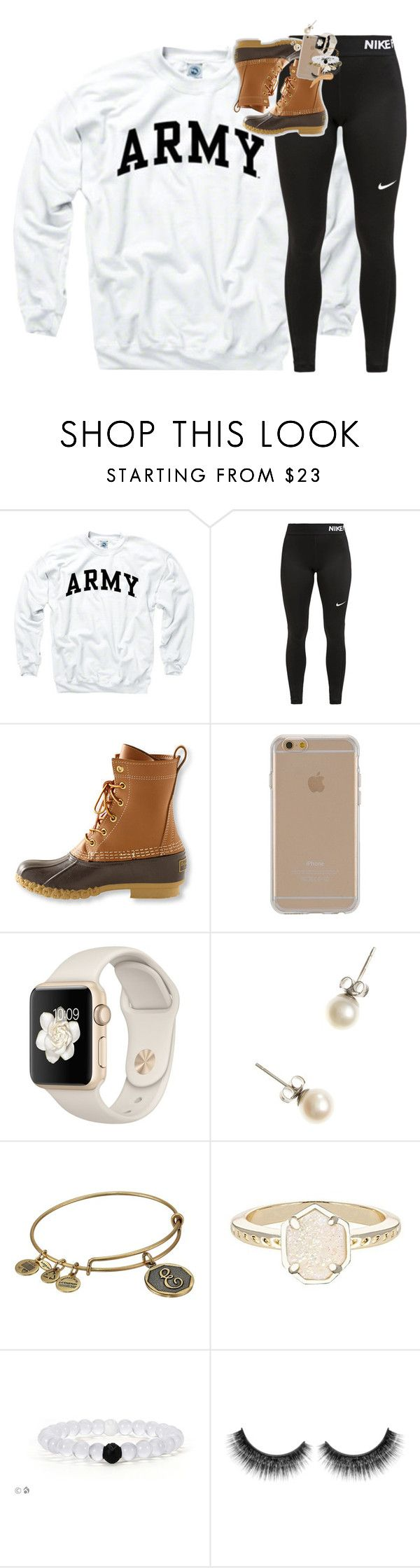 """""""Just got back from a haloween party!!"""" by classynsouthern ❤ liked on Polyvore featuring NIKE, L.L.Bean, Agent 18, J.Crew, Alex and Ani and Kendra Scott"""